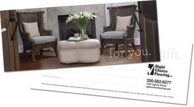 Flooring gift certificates